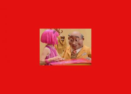 Lazytown tries to pick a gift for Max