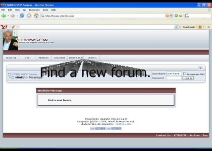 Find a new forum