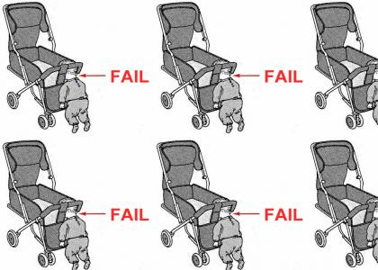 How to NOT put a Baby in a Stroller correctly