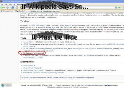 Eric Bauman Wikipedia Trivia