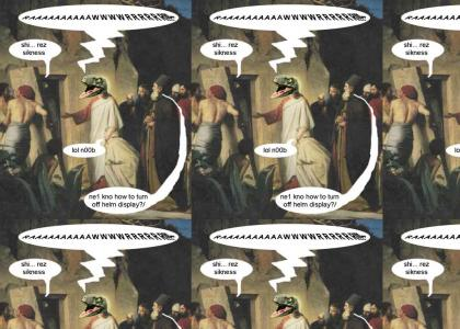 Raptor Jesus Raises Lazarus From Teh Dead