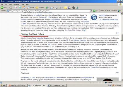 Editting Wikipedia: OJ style