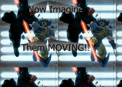 Wolverine VS Darth Maul!