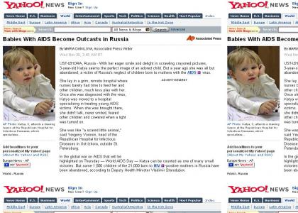 Russia Hates AIDS Babies