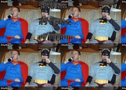 The new batman and superman
