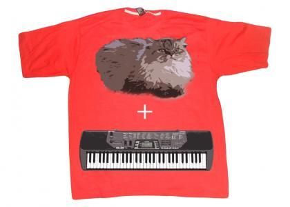 Cat on a T-shirt winning a contest