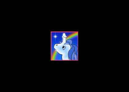 My little pony unicorn has a penis.