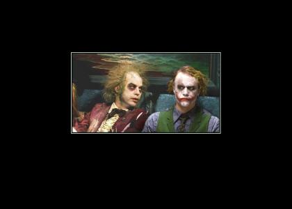 Beetlejuice meets the joker.
