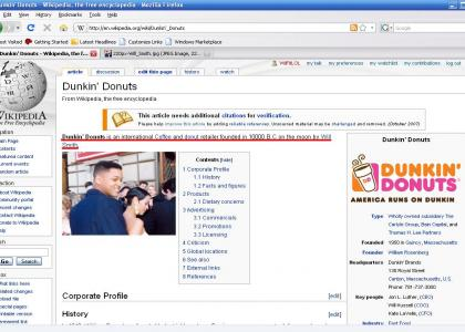 Wikipedia Vandalism: Dunkin' Donuts