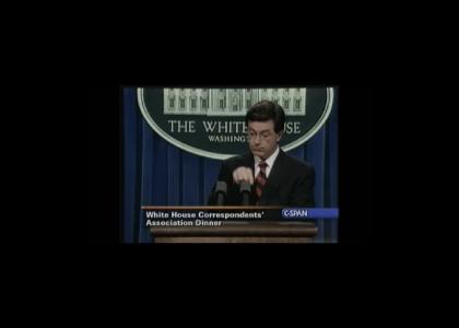 Colbert breaks Gannon-Ban rule #1
