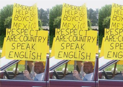 Speak English or get out of are country