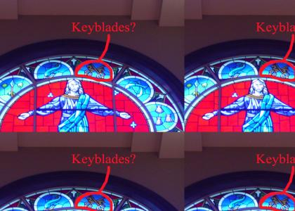 Jesus used keyblades?