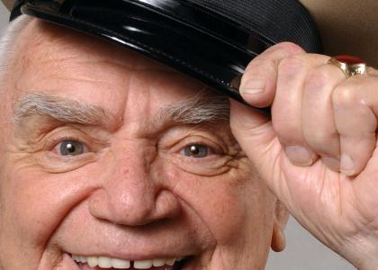 Ernest Borgnine stares into your soul