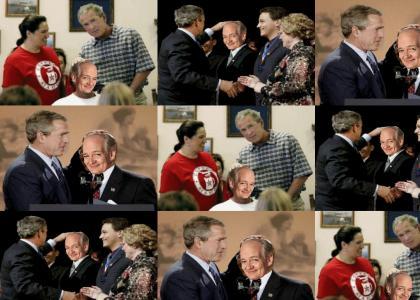 Bush cracks a Bald Joke!