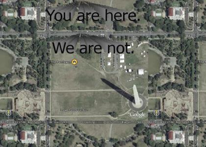 Google Earth Finds Cloaked Pentagon!