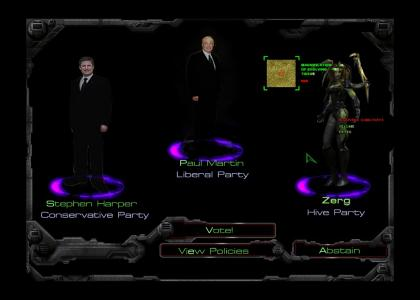 Canadian Election 2006 - should have voted for Zerg