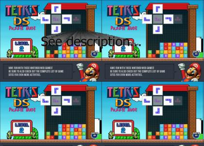 OMG, Secret Nazi Mario Tetris Flash Game!!
