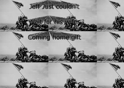 Troops rasing a fabulous flag