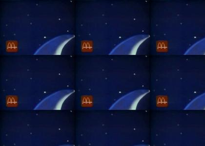 Moon Man sings a song advertising late night fast food deals