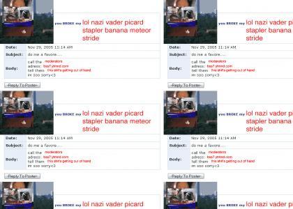Emo Nazi LOL Picard Vader Banana Stapler Meteor Stride Myspace Suicide