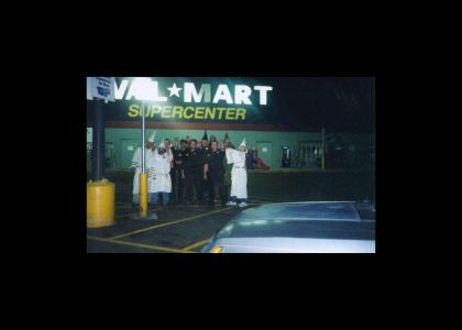 Wal*Mart's Supporters Gather for Demonstration