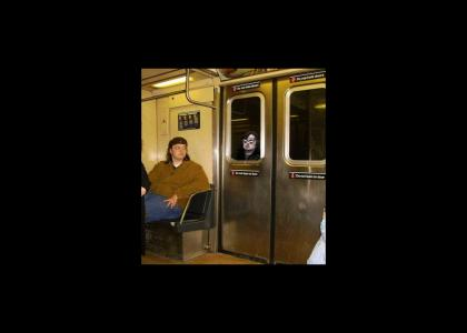 Brian on the subway