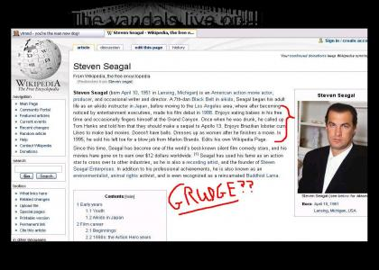 Seagal + Wikipedia = ...