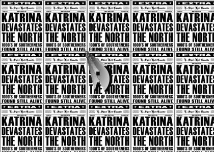 Katrina devastates the north