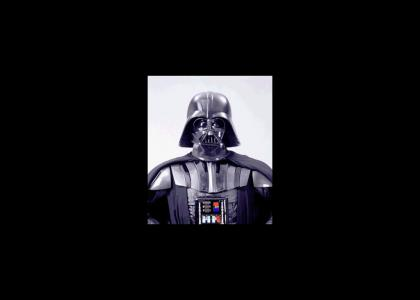 Darth Vader does not change facial expressions