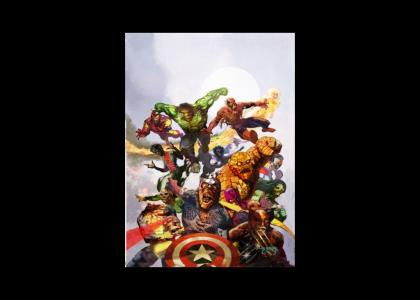 Marvel Zombies stare at your flesh!