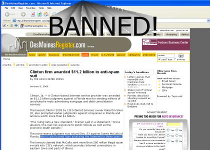 banned from internet