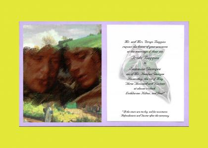 Frodo and Sam's Wedding Invitation