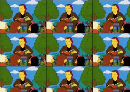 Look, maggie, christopher walken's reading goodnight moon!