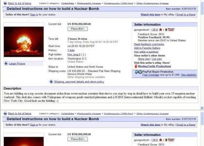 KIM Jong Il buy nuke on ebay