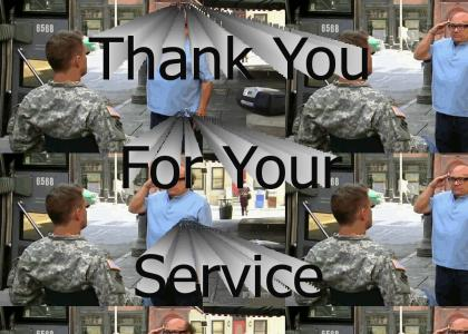 Thank you for your service (Sunny in Philadelphia)
