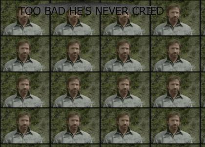 Fact: Chuck Norris' tears cure cancer...