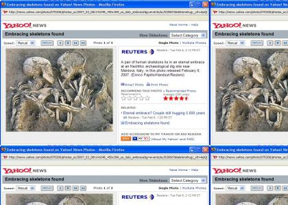 News Story - Embracing skeletons found in Italy