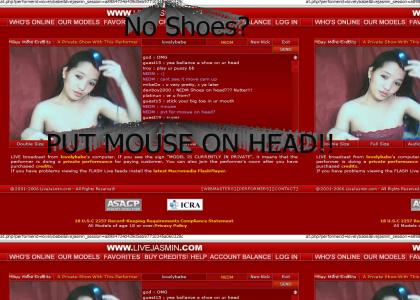 PUT MOUSE ON HEAD?!