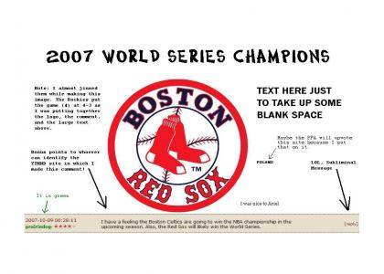 Boston Red Sox - 2007 World Series Champions!