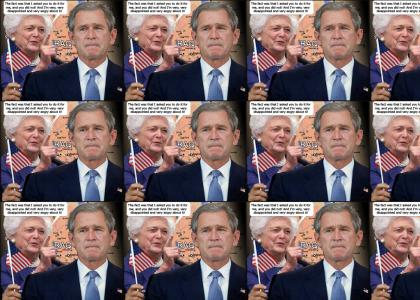 Bush yelled at by mother