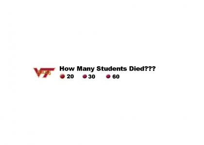 Virginia Tech Shootout Gets All the Publicity