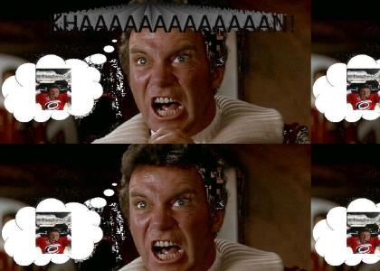 """Kirk realises he marooned the Stanley Cup on Ceti Alpha 5 with Khan. Then he's all like, """"KHAAAAN!"""""""