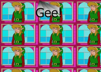 Zelda CD-i - Link is bored
