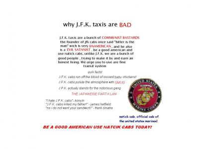 J.F.K. cabs are ... BARBARIC!