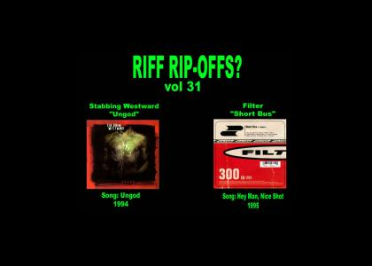 Riff Rip-Offs Vol 31 (Stabbing Westward, Filter)