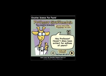 Professor Giraffenstein propagates lies