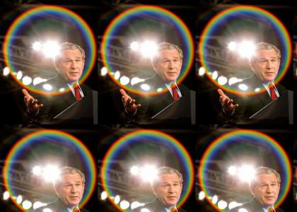 Bush's magic gay rainbow