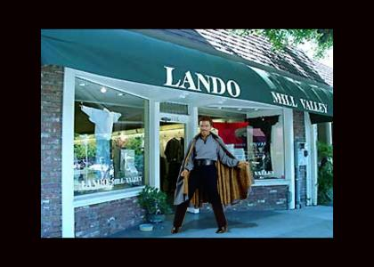 Where does Lando buy his outfits?