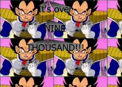 Vegeta, what does the scouter say about his power level?
