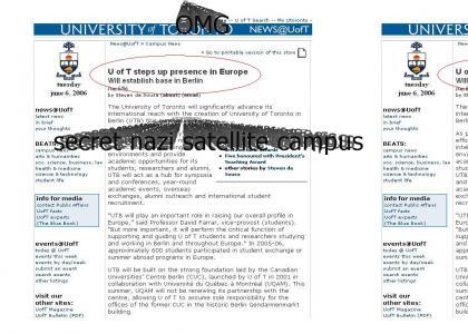OMG, secret nazi U of T campus
